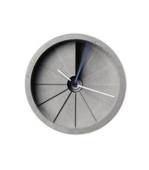 22 DESIGN STUDIO 4th Dimension - Concrete Wall Clock Blue