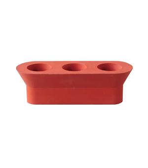 22 DESIGN STUDIO Stretch Candle Holder - Brick Red