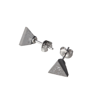 22 DESIGN STUDIO Earrings - Concrete Tetrahedron