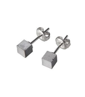 22 DESIGN STUDIO Earrings - Concrete Cube Small