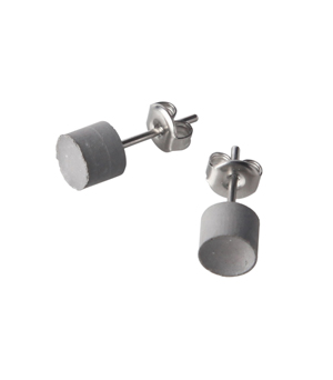 22 DESIGN STUDIO Earrings - Concrete Mirror Cylinder (CMC)