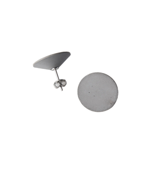 22 DESIGN STUDIO Earrings - Concrete Mirror Flat (CMF)