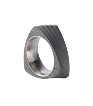22 DESIGN STUDIO Concrete Ring - Twist