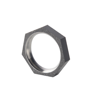22 DESIGN STUDIO Concrete Ring - Seven Thin