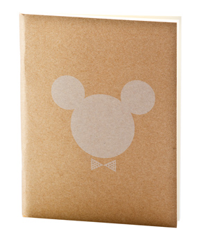 APPA DELIGHT Simple Notebook - Mickey Minnie White