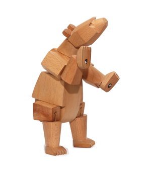 AREAWARE Wooden Animal - Ursa the Bear Minor