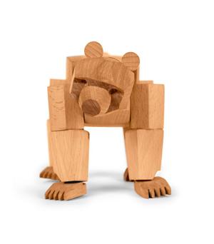 AREAWARE Wooden Animal - Ursa the Bear