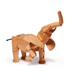 AREAWARE Wooden Animal - Hattie the Elephant