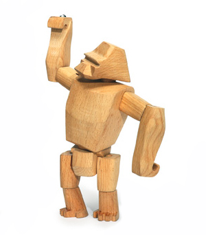 AREAWARE Wooden Animal - Hanno the Gorilla Jr.
