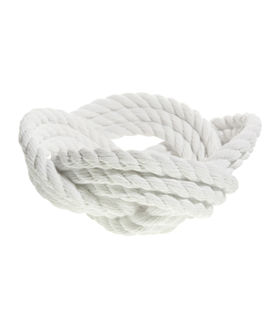 AREAWARE Knotted Rope Bowl - White