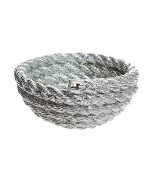 AREAWARE Coil Rope Bowl - Silver Chrome