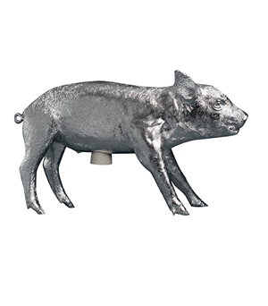 AREAWARE Bank in the form of a Pig - Chrome