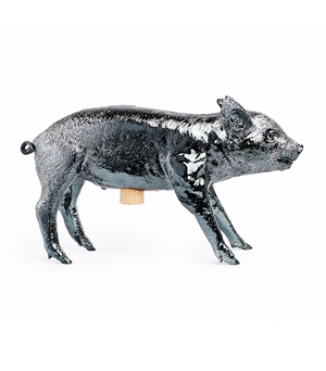 AREAWARE Bank in the form of a Pig - Gun Metal
