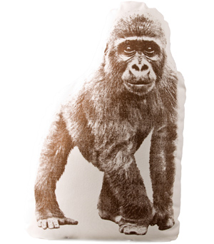 AREAWARE Mini Cushion - Gorilla Dark Brown