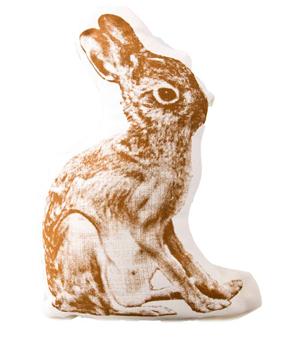 AREAWARE Large Cushion - Rabbit Brown