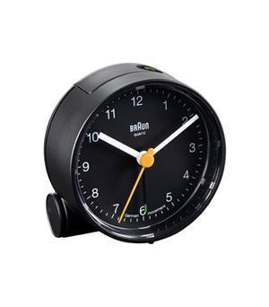 BRAUN Round Alarm Clock BNC001 - Black