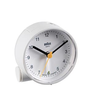 BRAUN Round Alarm Clock BNC001 - White