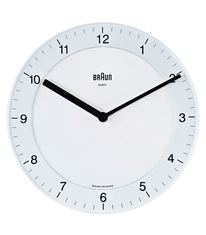 BRAUN Round Wall Clock BNC006 - White