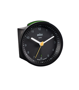 BRAUN Round Alarm Clock BNC007 - Black