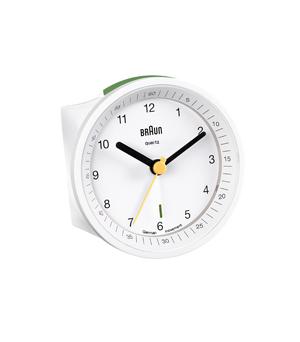 BRAUN Round Alarm Clock BNC007 - White