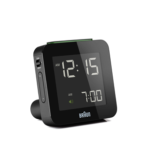 BRAUN Digital Alarm Clock Square BNC009 - Black