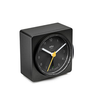BRAUN Square Alarm Clock BNC011 - Black