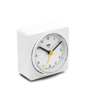 BRAUN Square Alarm Clock BNC011 - White