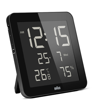 Braun Digital Weather Clock BNC014 - Black