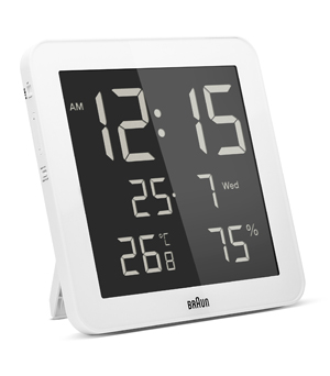 BRAUN Digital Weather Clock BNC014 - White