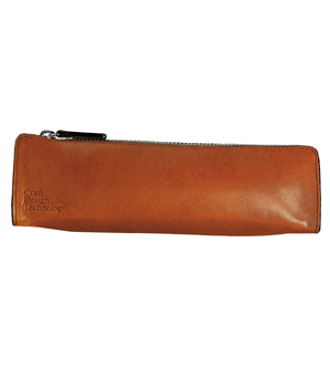 CRAFT DESIGN TECHNOLOGY Leather Pen Case - Cinnamon