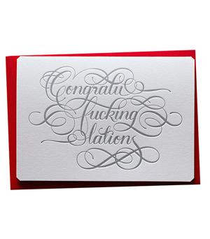 CALLIGRAPHUCK Card - Congratu-f*cking-lations