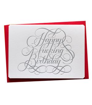 CALLIGRAPHUCK Card - Happy F*cking Birthday