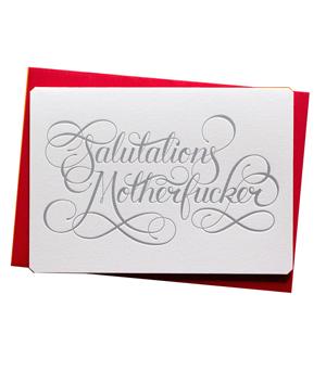 CALLIGRAPHUCK Card - Salutations Motherf*cker