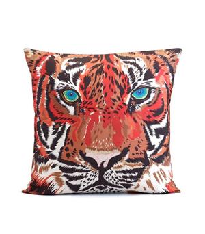 CHLOE CROFT LONDON Silk Cushion - Tiger