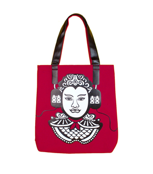 FARM STORE Modern General Tote Bag - Red