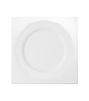 FARM STORE Petrified Victoria Plates - Medium White