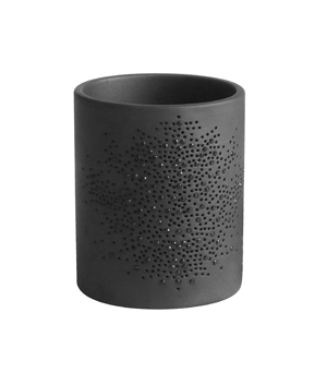 GILLES CAFFIER 'Fleurons' Candle Holder - Black