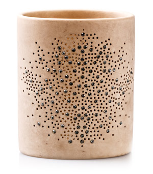 GILLES CAFFIER 'Fleurons' Candle Holder - Beige