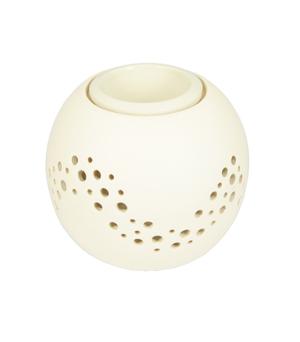 GILLES CAFFIER Ceramic Oil Burner - Galaxy Cream