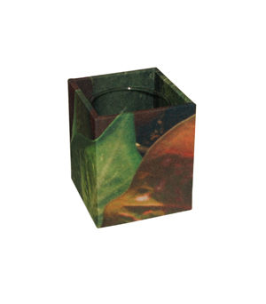 GILLES CAFFIER Polyester Cubic Vase - Small Leaves