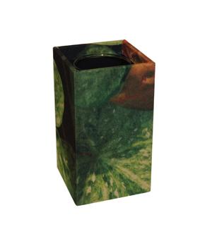 GILLES CAFFIER Polyester Cubic Vase - Medium Leaves