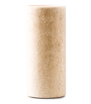 GILLES CAFFIER Ceramic Vase w Glass Beads - Small Beige