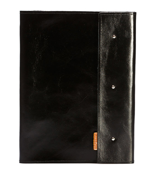 GOODJOB Notepad Holder A4 Dots - Leather Black