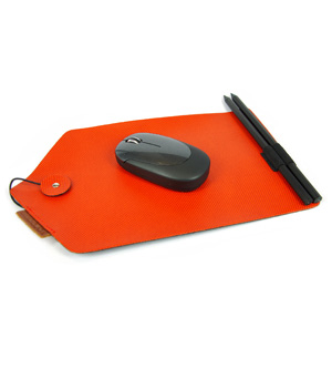 GOODJOB Mouse Pad & Pencil B-Mail - PU Orange