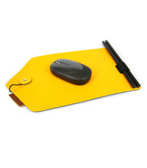 GOODJOB Mouse Pad & Pencil B-Mail - PU Yellow