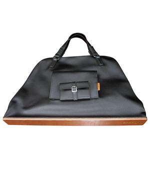 GOODJOB Pouch Tote Bag L - PU Black