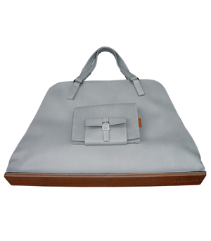 GOODJOB Pouch Tote Bag L - PU Grey