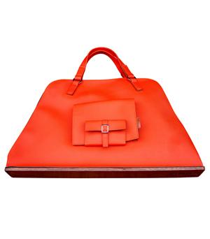 GOODJOB Pouch Tote Bag L - PU Orange