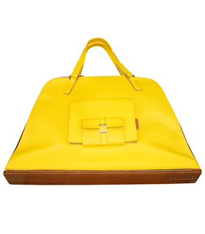 GOODJOB Pouch Tote Bag L - PU Yellow