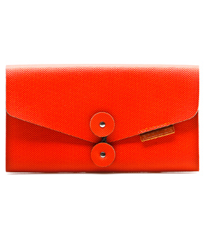 GOODJOB Business Card Holder (120) B-mail - PVC Orange